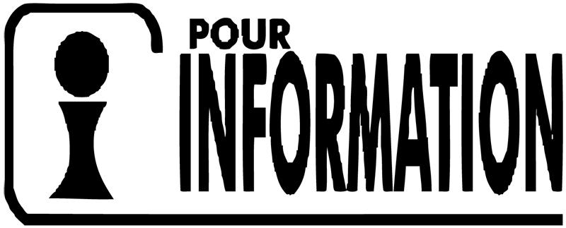 Printer 20 Formule  POUR INFORMATION